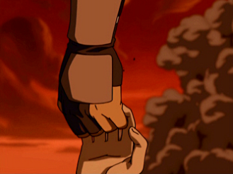 Toph_and_Sokka_holding_hands