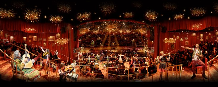 The immersive stage of The Great Comet.